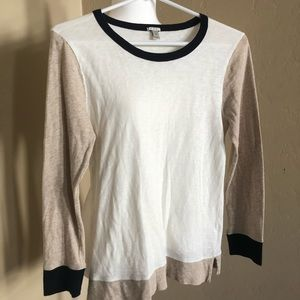 J Crew Multicolored long sleeved tee